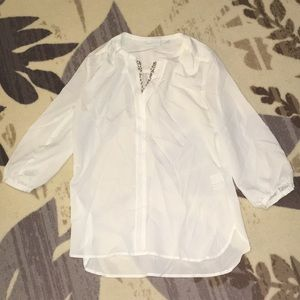 New York and Company 3/4 Sleeve Blouse